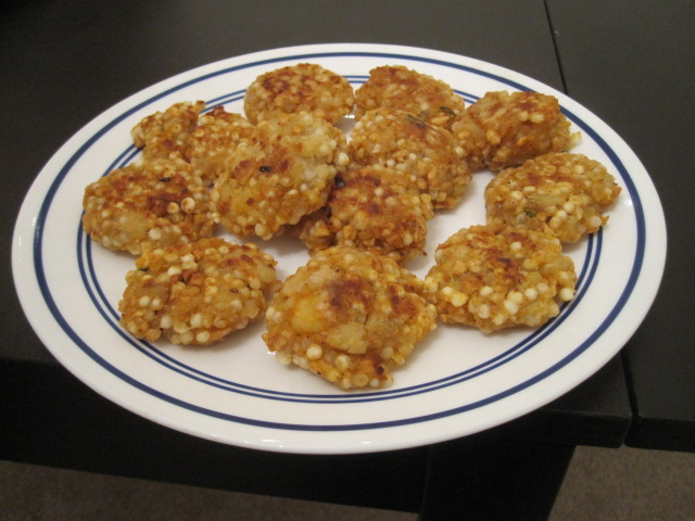 Sago Fritters (Traditional Indian name: Sabudana Vada)