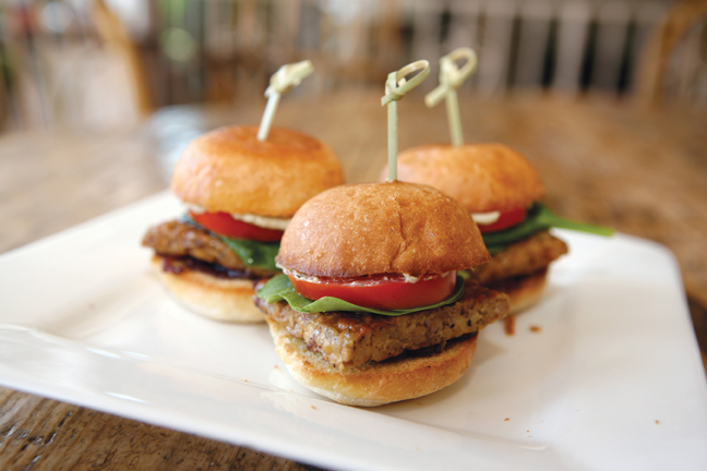 Easy gourmet recipes appetizers healthy natural appetizers bourbon tempeh sliders forumfinder Choice Image