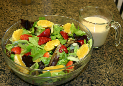 Mismash Salad with Orange Cashew Dressing